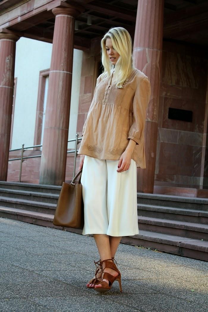 White culottes & camel