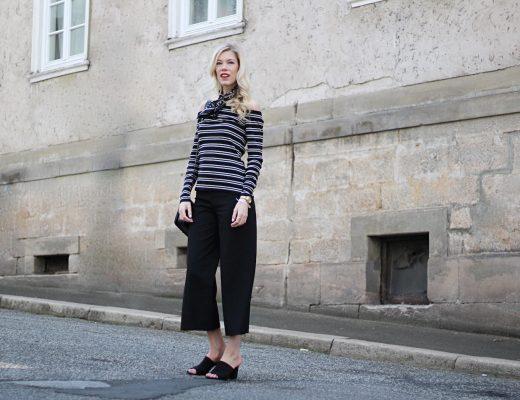 Culotte-Off-shoulder-Zara-H&M-Mules