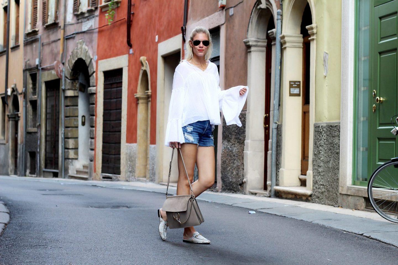 Ruffles, shorts & Gucci – Verona, Italy
