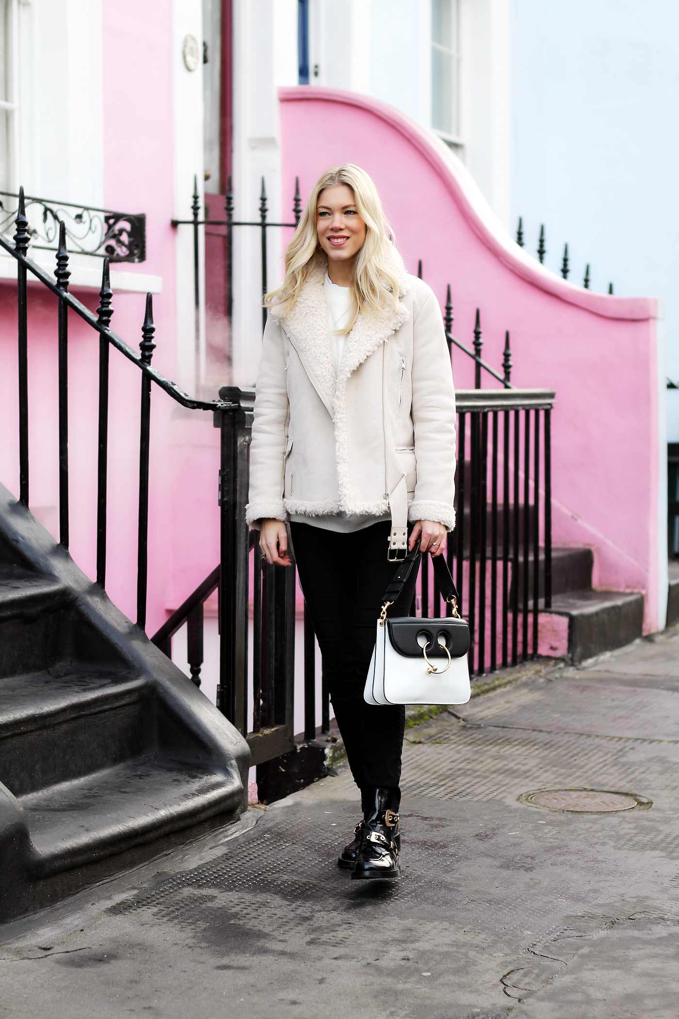 somehappyshoes_London_Zara_Biker_jacket_Piercebag1