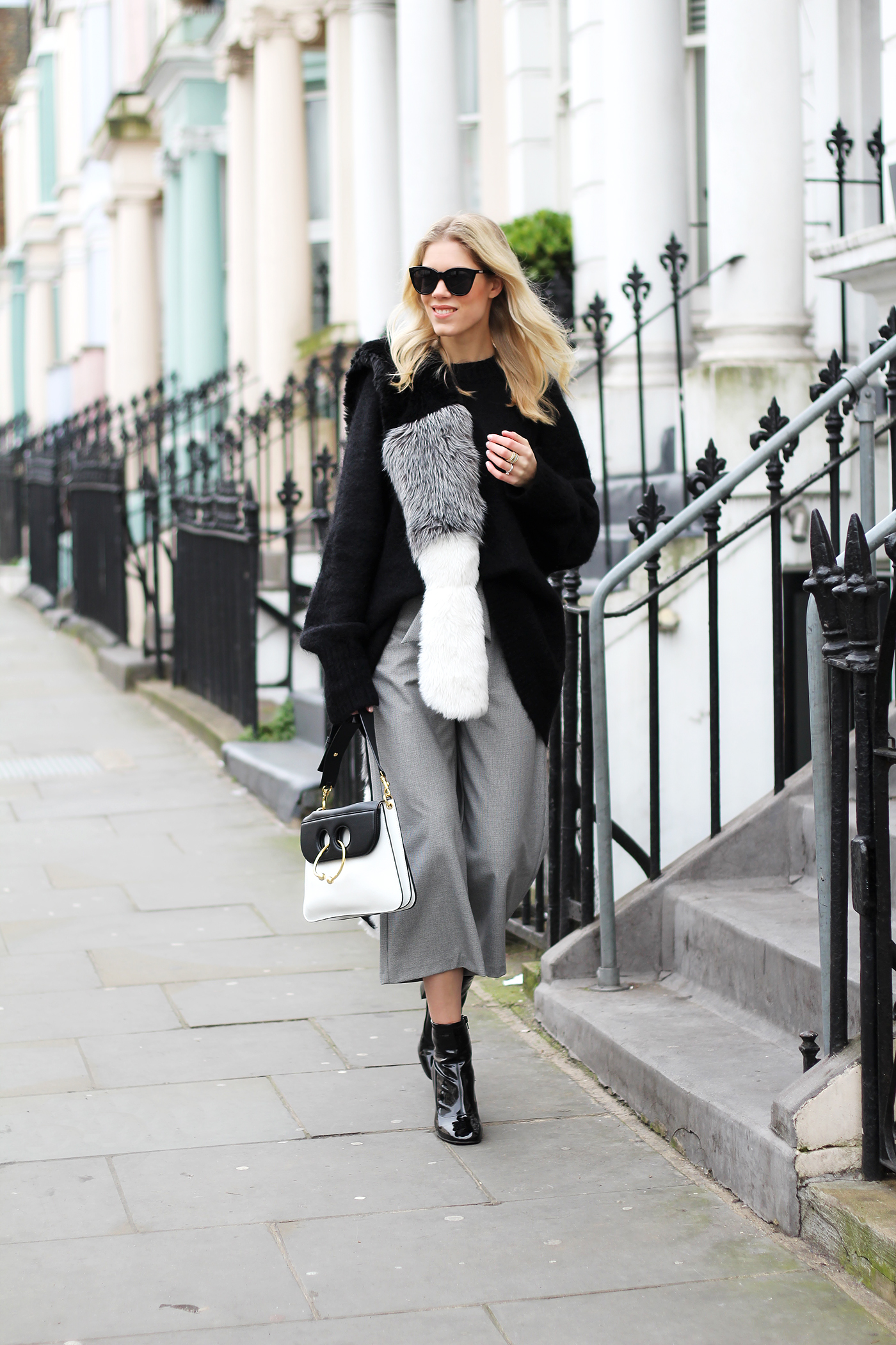 somehappyshoes_London_fashion_week_street_style_culotte_faux_fur_Pierce_bag4