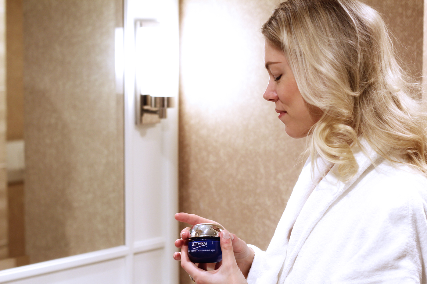 skin care with Biotherm
