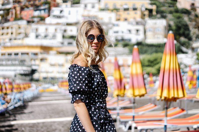 Polka dots & beach vibes – Positano, Italy