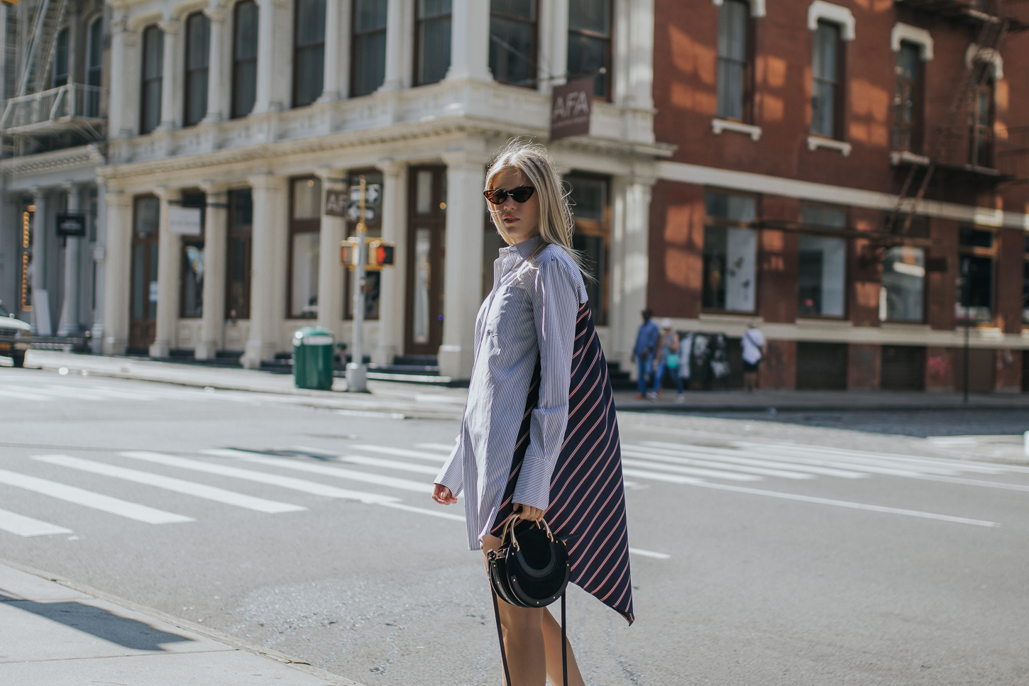 NEW YORK – no pants, no worries! The shirtdress to invest in!