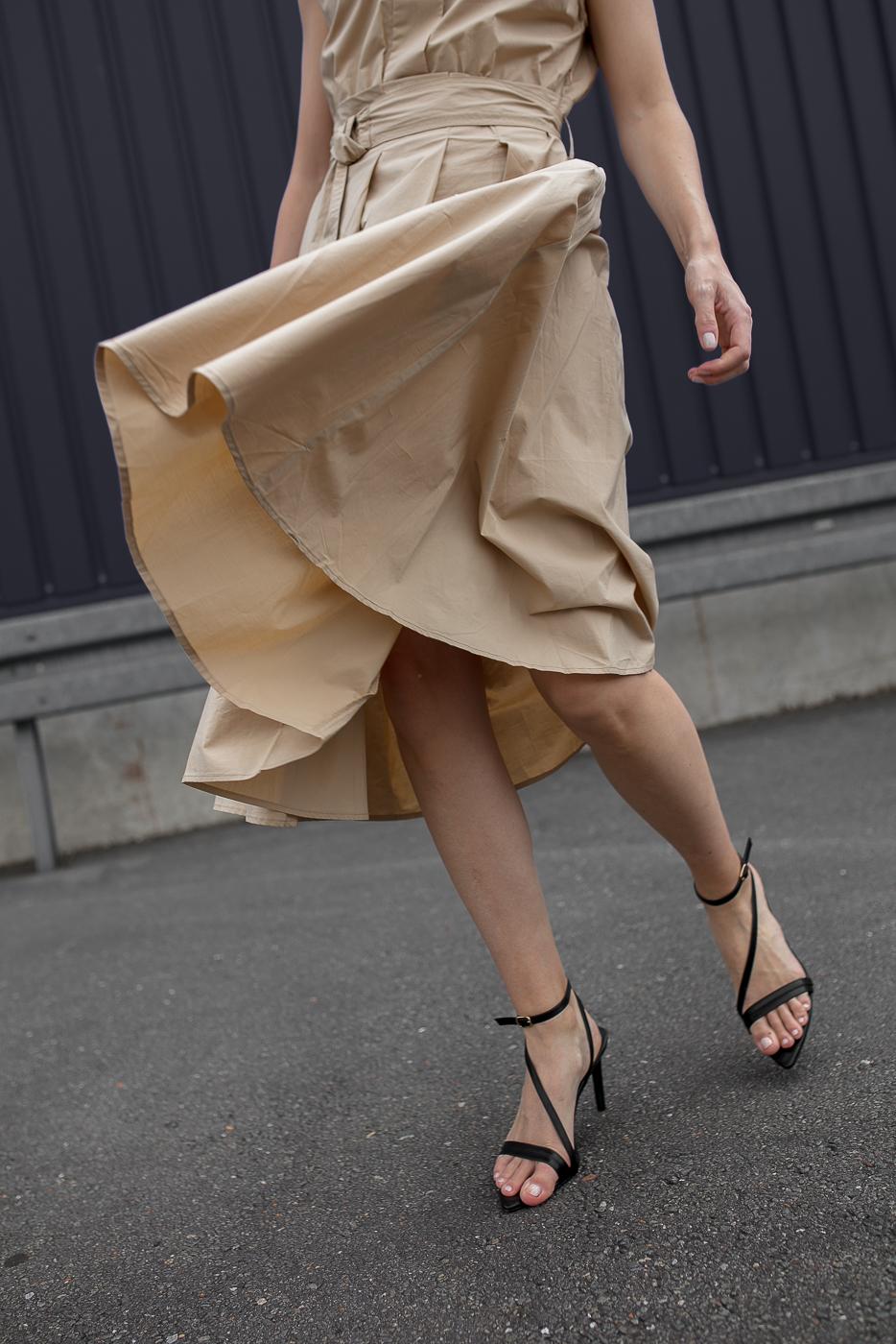 Summdress-Kleid-Sandals-Düsseldorf-Modeblog