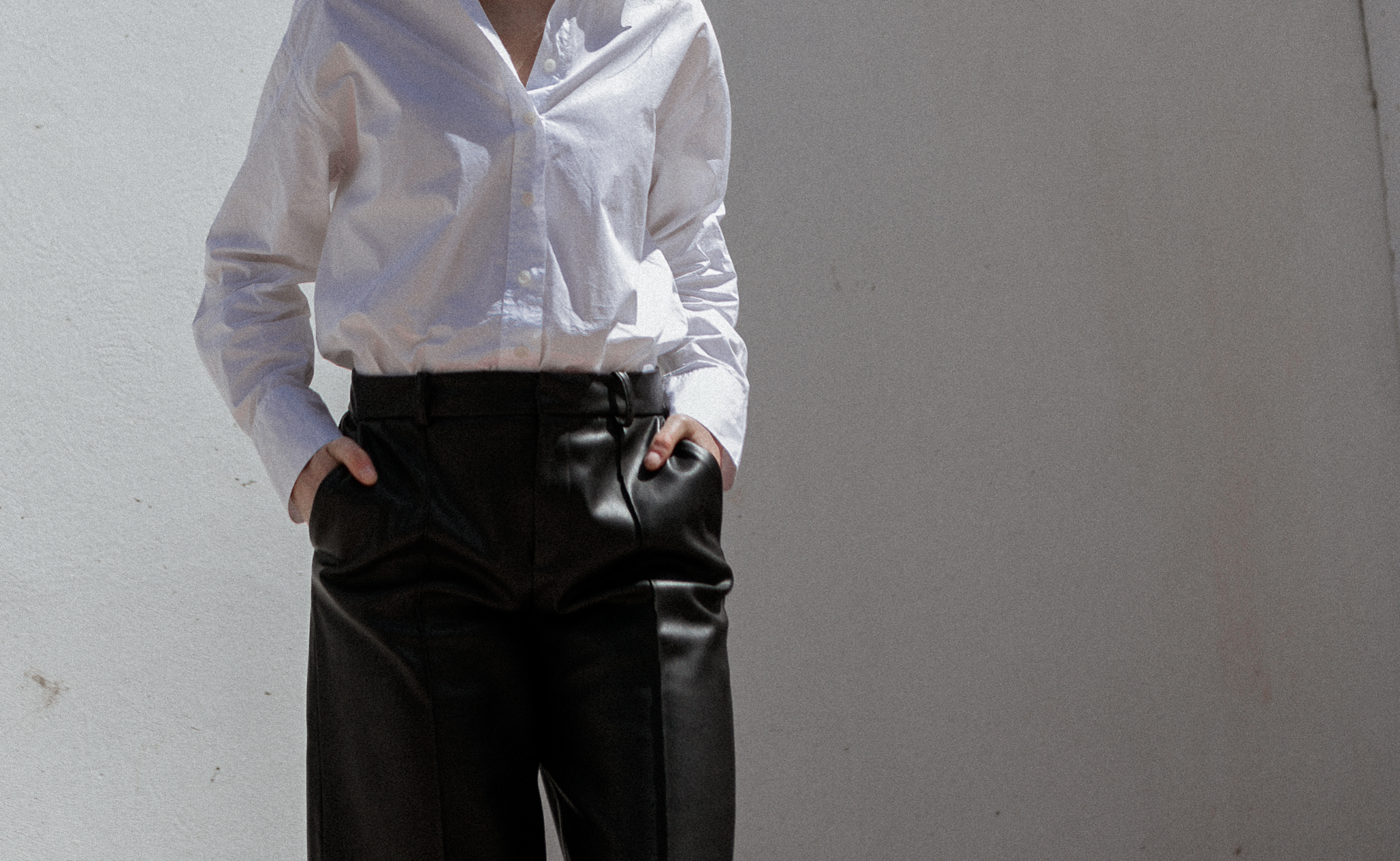 white-shirt-leather-trousers